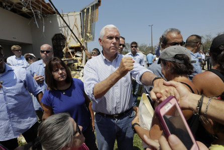 Pence visits ravaged SoutheastTexas